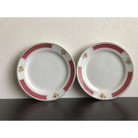 【香港☆中国制造】「紅梅」・五寸取皿  /  使い勝手の良い大きさです