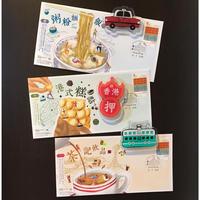 【香港☆HK  Magnet】キュートなアクリル板のマグネット /  香港特色磁石貼 3種類
