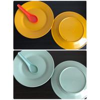 【香港☆メラミンお皿】<直径20cm>  元気がでるメラミンカラー / (2色)家居用品