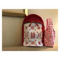 【香港☆G.O.D.】「幸福快樂」リュック  / かなり可愛いです! Double Happiness Backpack