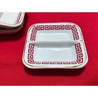 【香港☆中国制造】キッチュな模様の仕切り皿   /  たれやソースをいれたり