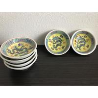 【香港☆景徳鎮】瓷碟  縁取りがかわいい「龍」豆皿  /  2P=1set