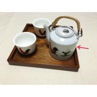 【香港☆ 雞 食器】(サイズ変更になりました) ティーポット・急須 /  持ち手は天然の木 Y-5900