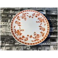 """【香港☆粵東磁廠】Round coup plate 9""""オリジナル・大きめな皿  / Yuet Tung China Works"""
