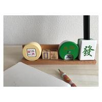 【香港☆麻將】麻將日暦筆座  / Mahjong Perpetual Calendar 木製です!