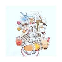 <予約商品>☆Handmade☆【香港 / whynothongkong】ミルクティランド!!!茶餐廰&招き猫☆ファンタジー  /  トートバッグ