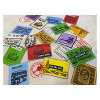【香港☆rework】Stamp TOTE BAG・環保袋 /  刺繍&ラバープリントのバッグ