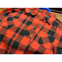 【SKREWZONE】BUFFALO CHECK LONG HEAVY SHIRTS