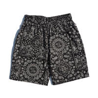 【COOKMAN】Chef Pants Short Paisley Black