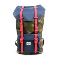 【 HERSCHEL】LITTLE AMERICA WOODLAND CAMO/NAVY/RED RUBBER