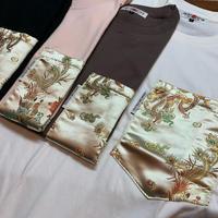 【SKREWZONE】VINTAGE CUSTOM CHINA DRESS BIG POCKET TEE GOLD