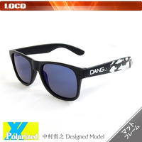 【DANG SHADES】Black Matte X Blue Mirror Polarized with FISHING 中村貴之 Designed Model