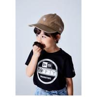 【NEWERA】Youth コットン Tシャツ バイザーステッカー ブラック × ホワイト