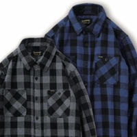 【BLUCO】 HEAVY NEL SHIRTS -buffalo check-