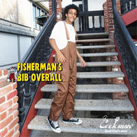 【COOKMAN】Fisherman's Bib Overall Chocolate
