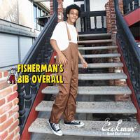【COOKMAN】Fisherman's Bib Overall Chocolate