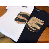 【SKREWZONE】VINTAGE CUSTOM TIGER CAMO BIG POCKET  KIDS TEE
