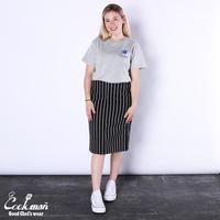 【COOKMAN】スカート Baker's Skirt Stripe Black