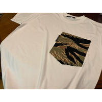 【SKREWZONE】VINTAGE CUSTOM TIGER CAMO BIG POCKET TEE