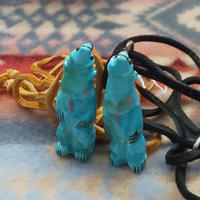 ZUNI 『FETISH(BEAR) NECKLACE (TURQUOISE)』