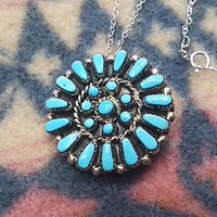 ZUNI 『CLUSTER NECKLACE(TURQUOISE)』