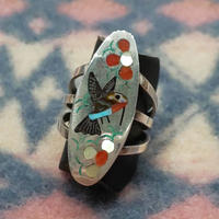ZUNI 『HUMMINGBIRD INLAY RING(S&E Guardian) 15号』