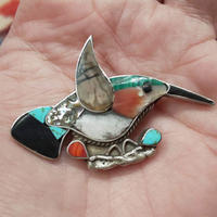 VINTAGE 『70's HUMMING BIRD PIN BROOCH』