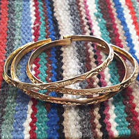 (再入荷) NAVAJO 『12KGF NARROW BANGLE(TRIANGLE)』