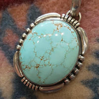 NAVAJO 『TURQUOISE(NORTHERN GEM) NECKLACE (Herman Vandever)』