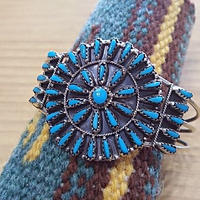 NAVAJO 『CLUSTER BANGLE (Violet Begay) (TURQUOISE) A』