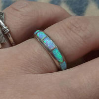 ZUNI 『INLAY LAME RING(NARROW) 13号』