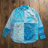 Nasngwam. 『SKELTER SHIRTS BANDANA(L.BLUE) Sサイズ』