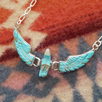 NAVAJO 『EAGLE NECKLACE(Ben Livingston) TURQUOISE』
