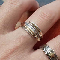 NAVAJO 『12KGF FEATHER RING(T. Mace)』