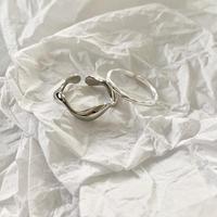 【2点セット】シンプルシルバーリング #2  silver925