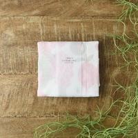 7枚縫い合わせ かや生地ふきん ベジタブル ピンク