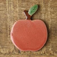土作りの箸置き りんご 赤リンゴ
