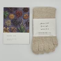 MAITO 綿5本指ソックス キナリ 屋久杉染め 22~25cm 靴下 コットン 綿100% 日本製 Made in Japan