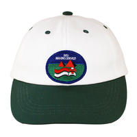BMS 2 TONE CANVAS CAP GREEN/WHITE