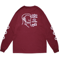 EAR PLUG L/S TEE MAROON + EAR PLUG SET