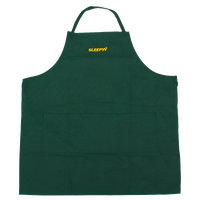 SLEEPYY LOGO APRON GREEN