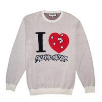 Fucking Awesome I Heart FA Knitted Sweater - Cream