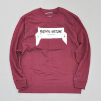 Fucking Awesome Weird Out There Longsleeve Tee - Maroon