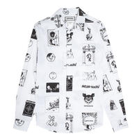 Fucking Awesome Cut Outs Dress Shirt - White/Black