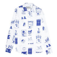 Fucking Awesome Cut Outs Dress Shirt - White/Blue