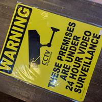 プラスチックサイン ラージサイズ CCTV