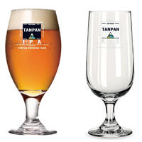 短パンビール用オリジナルグラス2種( 短パンIPA用(左)& 短パンALE用(右) )