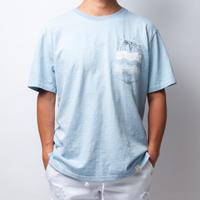 ISLANDER/アイランダー  刺繍ポケットビッグシルエット Tシャツ/ライトブルー