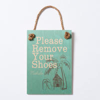 SoHa LIVING/Please Remove Your Shoes メッセージロゴプレート看板