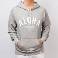 ISLANDER/アイランダー 『ALOHA』スウェットプルオーバーパーカー/ヴィンテージヘザー